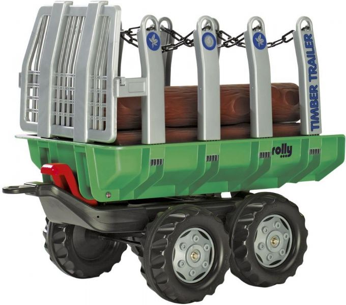 Timmervagn med stockar
